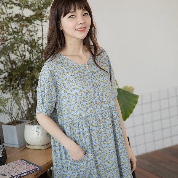 솔로 68441 도도한 반팔원피스/홈웨어/이지웨어/잠옷