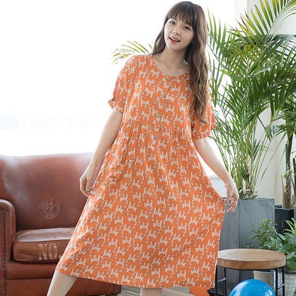 솔로 68443 츄츄 반팔원피스/홈웨어/이지웨어/잠옷