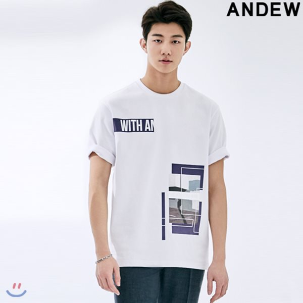 [ANDEW]남성 레터링&전사프린트 아트웍TS(O182TS170P)