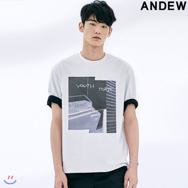 [ANDEW]남성 TR전사프린트티셔츠(O182TS114P)