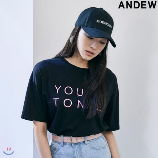 [ANDEW]여성 라운드 PC 프린트 반팔 티셔츠(O182TS600P)
