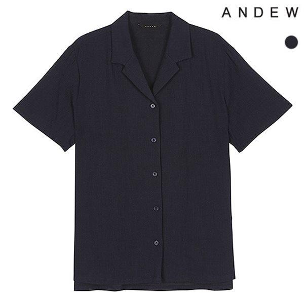 [ANDEW]여성 오픈카라 CRL 솔리드 반팔 셔츠(O182SH600P)