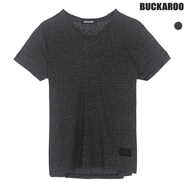 [BUCKAROO]유니 싸이로 슬럽 V넥 티셔츠(B182TS055P)