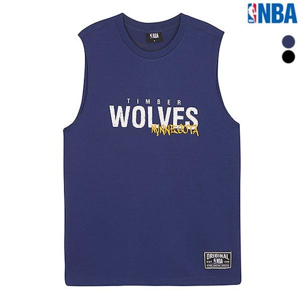[NBA]MIN TIMBERWOLVES 스트라이프 슬리브리스 티셔츠(N182TS453P)