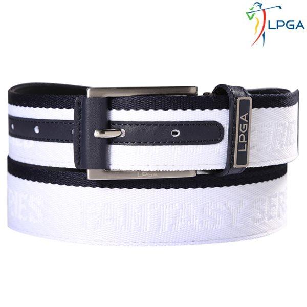 [LPGA]남) 배색 스트라이프 로고 버클 벨트(L175AT102P)