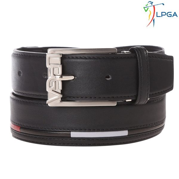 [LPGA]남) 배색 스트라이프 로고 버클 벨트(L175AT103P)