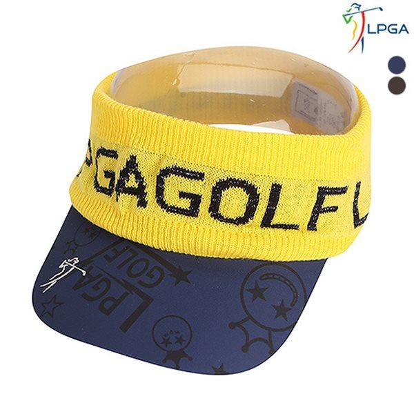 [LPGA]여) 니트편직 밴드 배색 선바이저(L175AP801P)