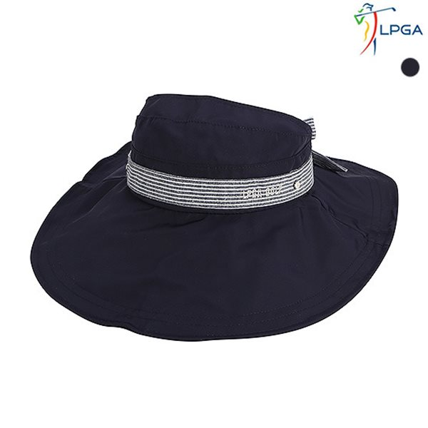 [LPGA]여) 리본 배색 와이어 버킷햇(L175AP751P)
