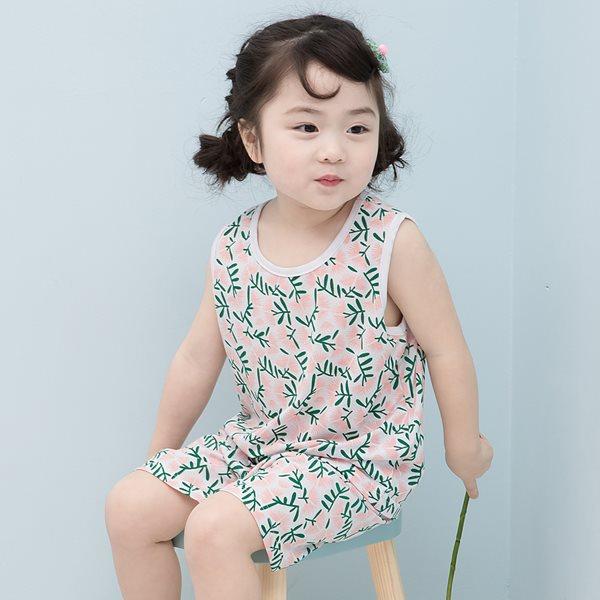 꼬지비 로벨리아 민소매 여아 실내복세트/아동실내복
