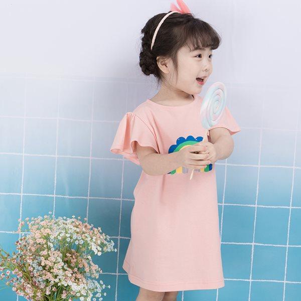 삐삐롱 레인보우 5부 여아원피스/아동내의/아동실내복