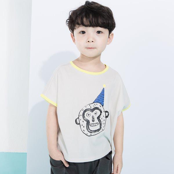 삐삐롱 르몽키 5부 남아 실내복세트/아동내의/내복