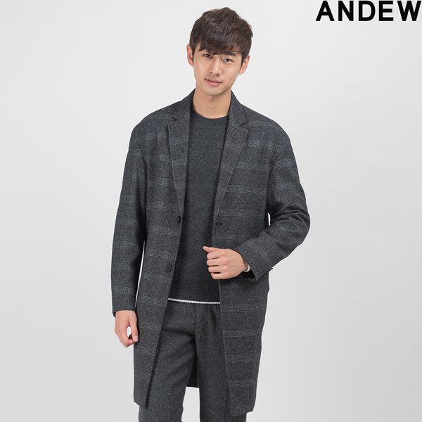 [ANDEW]남성 네오플랜/패턴오버사이즈 코트 (O154CT210M)