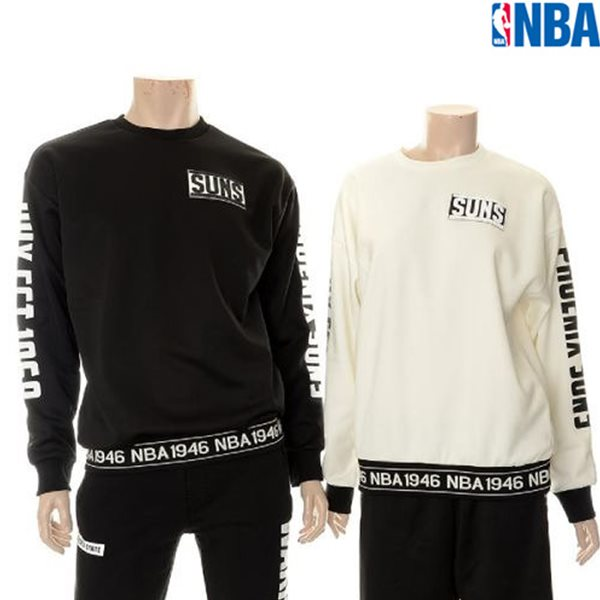 [NBA]PHX SUNS 소매레터링 POLY 맨투맨(N154TS054P)