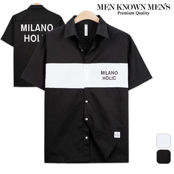 [MKM9] 밀라노 스트릿 오버핏 반팔셔츠