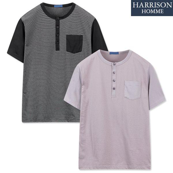 [해리슨] 라운드 반팔 티셔츠1 DDO1150