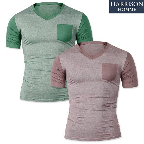 [해리슨] 브이넥 반팔 티셔츠1 DDO1152