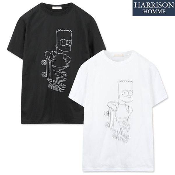 [해리슨] 심 망 반팔 티셔츠 ISN1125