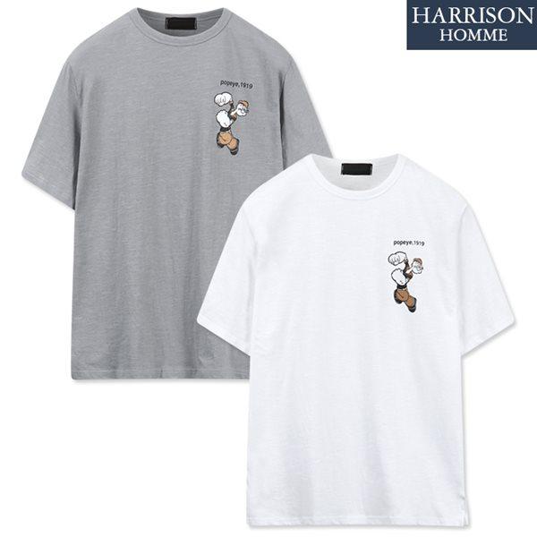 [해리슨] 뽀빠이 슬라브 반팔 티셔츠 NGD1008