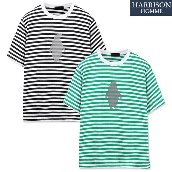 [해리슨] 펭귄 스트라이프 반팔 티셔츠 NGD1004