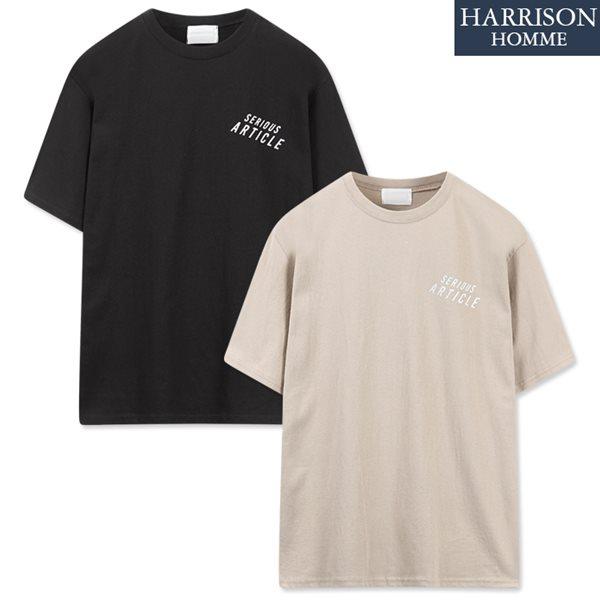 [해리슨] 20수 아티클 은박 나염 반팔 티셔츠 MOI1008