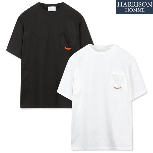 [해리슨] 20수 포켓 테잎 루즈 반팔 티셔츠 MOI1009