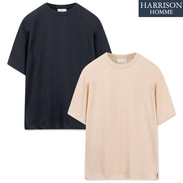 [해리슨] 특양면 루즈 트임 반팔 티셔츠 MOI1007