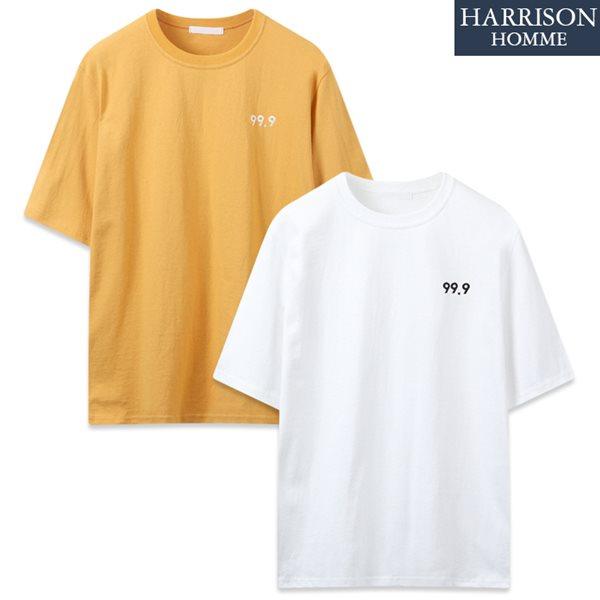 [해리슨] 99_9 라운드 반팔 티셔츠 MJB1258