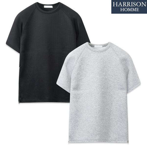 [해리슨] 에어쿠션 지퍼 반팔 티셔츠 MJB1268