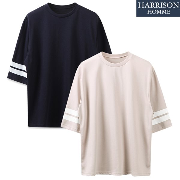 [해리슨] 두줄 반팔 티셔츠 SK1083