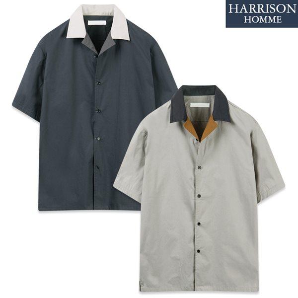 [해리슨] 410 컬러 배색 반팔 셔츠 TOS1182