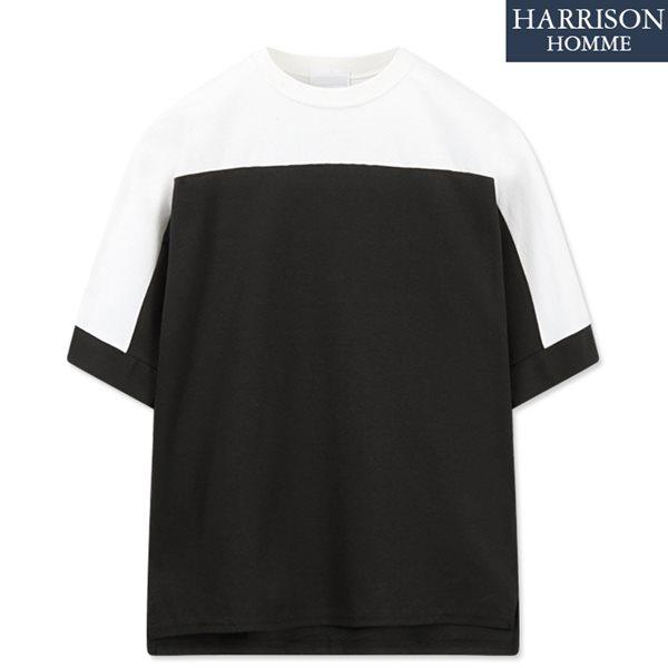 [해리슨] 쿨분또 이단 배색 5부 티셔츠 RKM1146