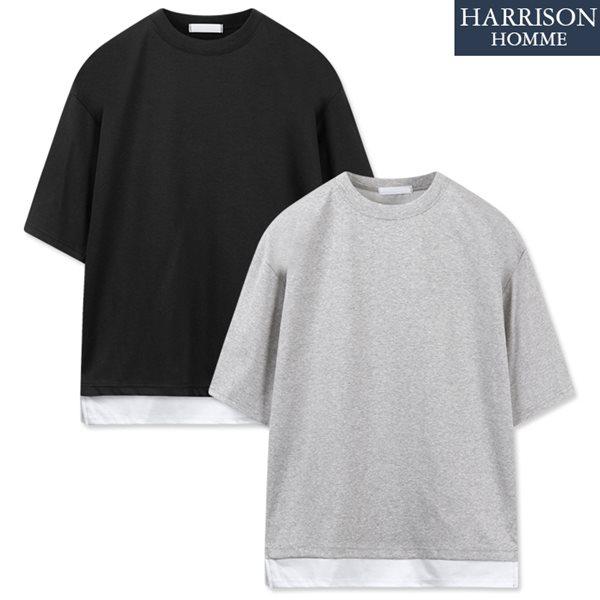 [해리슨] 오버핏 쿨 분또 레이어드 반팔 티셔츠 RKM1140