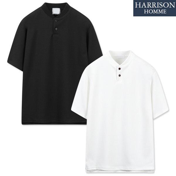 [해리슨] 엠보 헨리넥 반팔 티셔츠 RKM1139