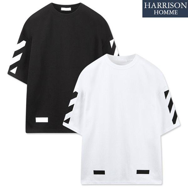 [해리슨] 오버핏 오브 반팔 티셔츠 RKM1137