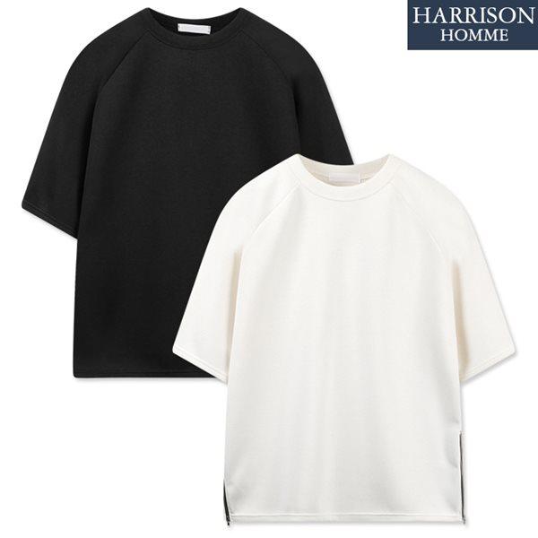 [해리슨] 쿠션 사이드 지퍼 반팔 티셔츠 RKM1130