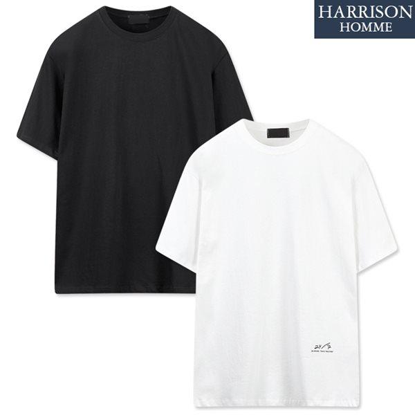 [해리슨] 20수 24나염 박스 반팔 티셔츠 LCS1064