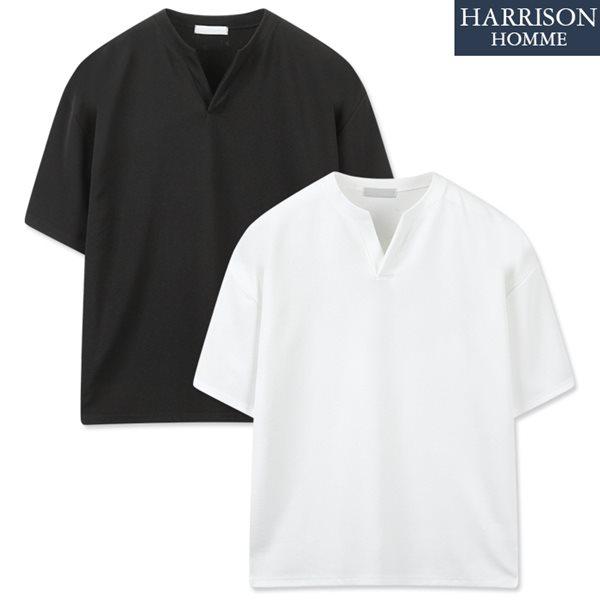 [해리슨] 단작 오버핏 반팔 티셔츠 RTW1486