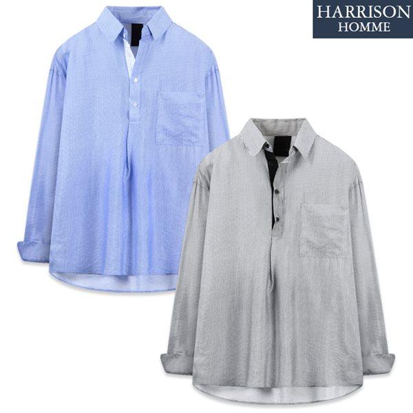 [해리슨] 407 스트라이프 풀오버 긴팔 셔츠 TOS1179