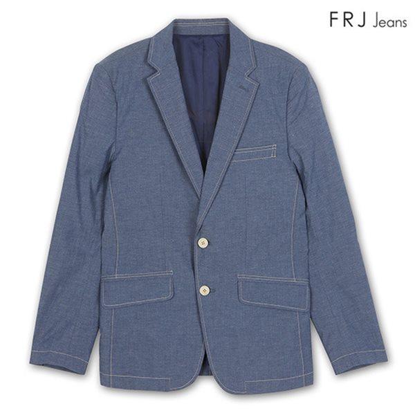 [FRJ]남성 샴브레이투버튼자켓 BL (F42M-JK012A)