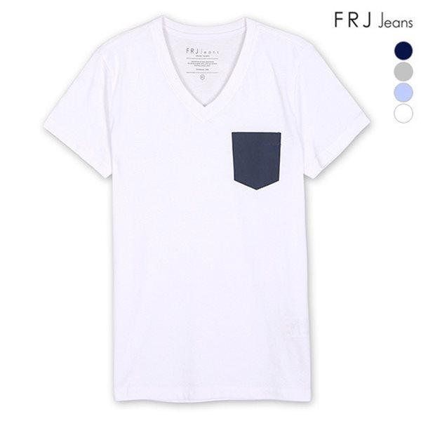 [FRJ]유니 가슴포켓V넥유니티셔츠 (F56U-TM922B)