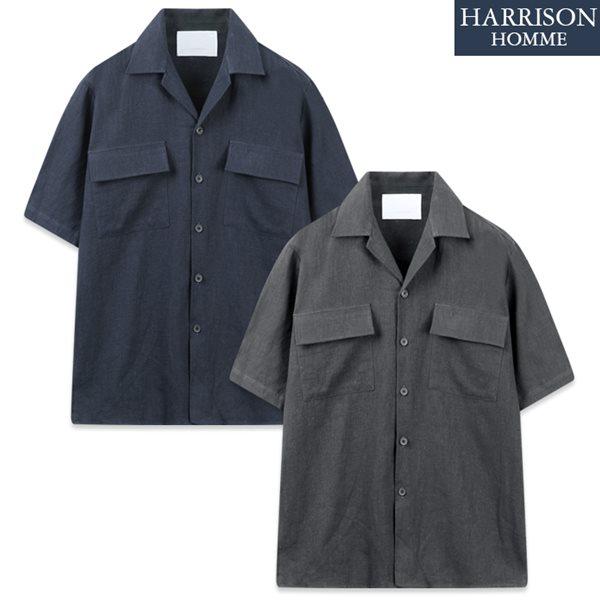 [해리슨] DS 면 마 반팔 셔츠 자켓 MET1925