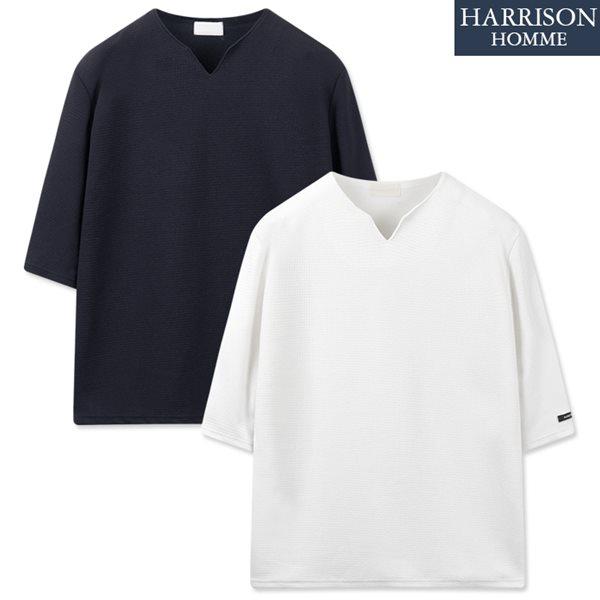 [해리슨] 총알 브이 트임 7부 티셔츠 MDL1370