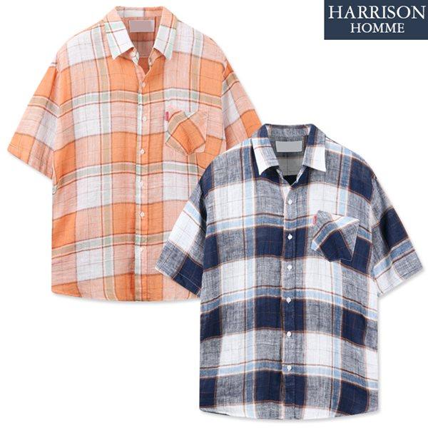 [해리슨] 믹스 반팔 셔츠 DON1387