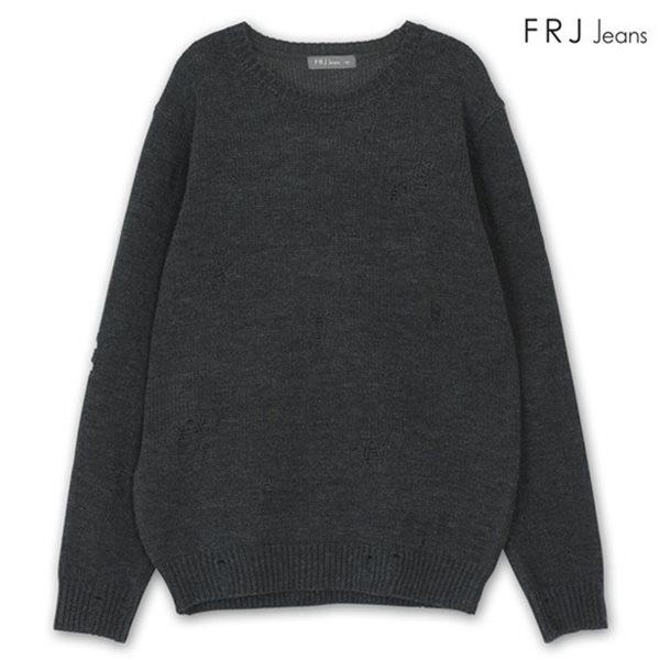 [FRJ]남성 기본핏데미지니트 CGR (F74M-KP018B)