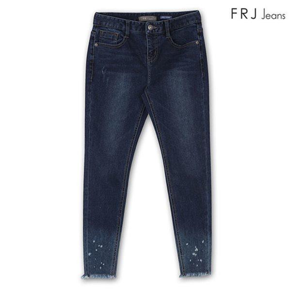 [FRJ]여성 D톤워싱밑단그라데이션앵클스키니미드라이즈 DBL (F81F-DP385A)