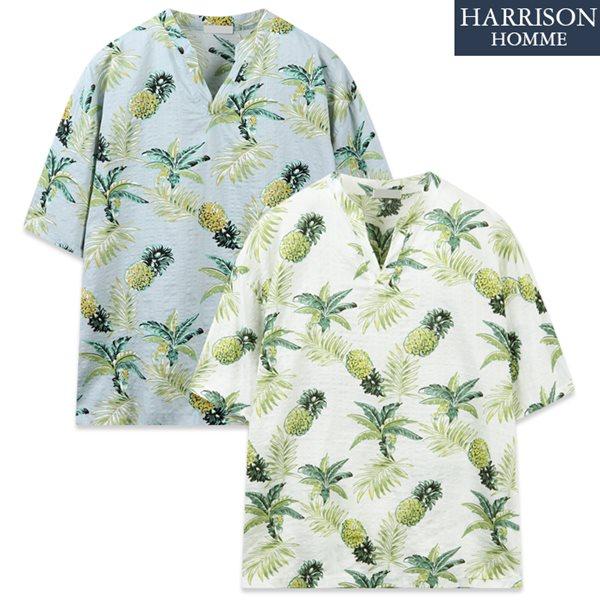 [해리슨] 파인 단작 하와이안 반팔 셔츠 RTW1557