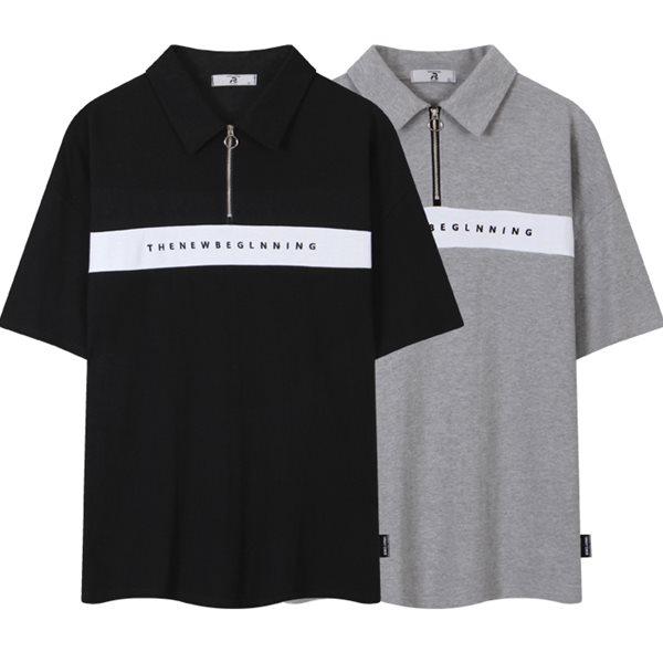 [레이먼] 뉴 비기닝 오버핏 반팔 카라 티셔츠 RH2488RT