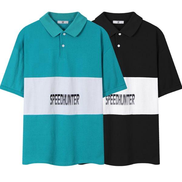 [레이먼] 스피드 헌터 오버핏 반팔 카라 티셔츠 RH2490RT