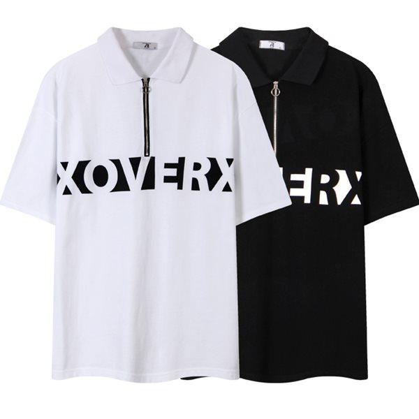 [레이먼] XOVER[엑스오버] 오버핏 카라 반팔티셔츠 RH2491RT