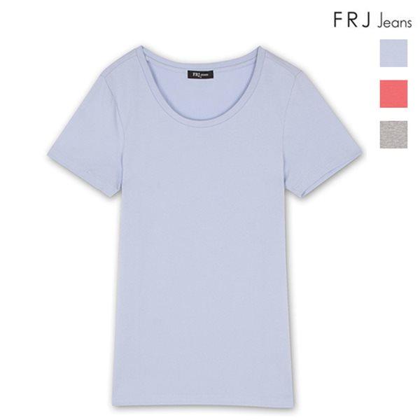 [FRJ]여성 기본U넥티셔츠 (F46F-TM962B)